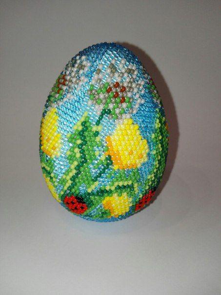 ВЯЖЕМ С БИСЕРОМ авторские схемы и не только   VK  - beautiful bead crochet egg