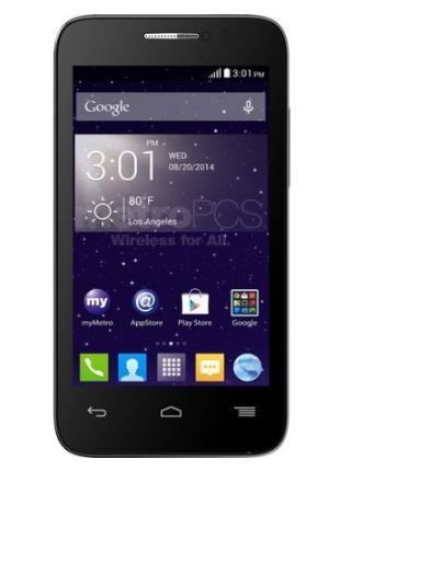 New Alcatel One Touch Evolve 2 Black  No Contract(Metro PCS Android T-Mobile #ALCATEL