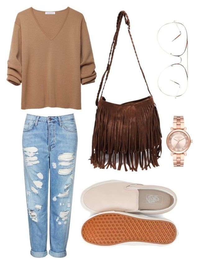 """""""Lazy day!"""" by fhk21 on Polyvore featuring Topshop, J.W. Anderson, Vans and Michael Kors"""