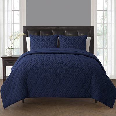 Breakwater Bay Northport Comforter Set Color: Navy, Size: King