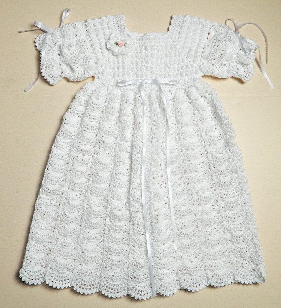Crochet Pattern For Christening Gown : Crochet Christening / Blessing Gown - Open Fan Pattern ...