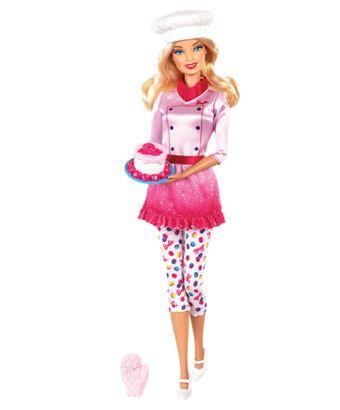 Descubre cómo es ser una repostera con este playset de Barbie Quiero Ser.  Con las Barbie Quiero Ser, las niñas pueden explorar los roles de estilistas de mascotas, reposteras, maestra y niñera. ¡Con Barbie las niñas pueden ser lo que quieran ser!