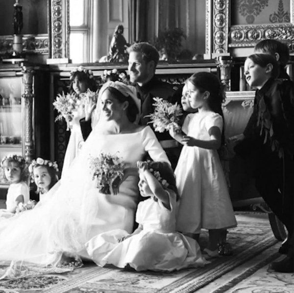 Harry And Meghan Celebrate First Wedding Anniversary With Unseen Photos Harry Wedding Harry And Meghan Wedding Prince Harry And Meghan