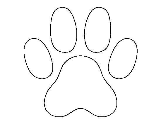 cat paw print pattern use the printable outline for crafts creating stencils scrapbooking