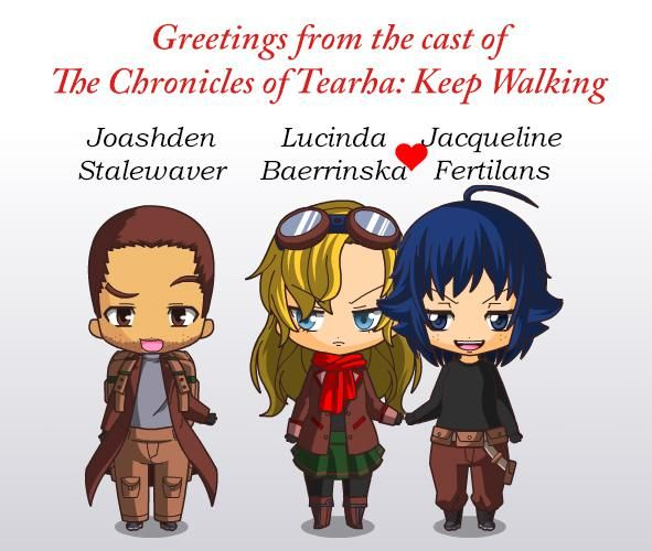 The main characters of The Chronicles of Tearha: Keep Walking by Aden Ng.
