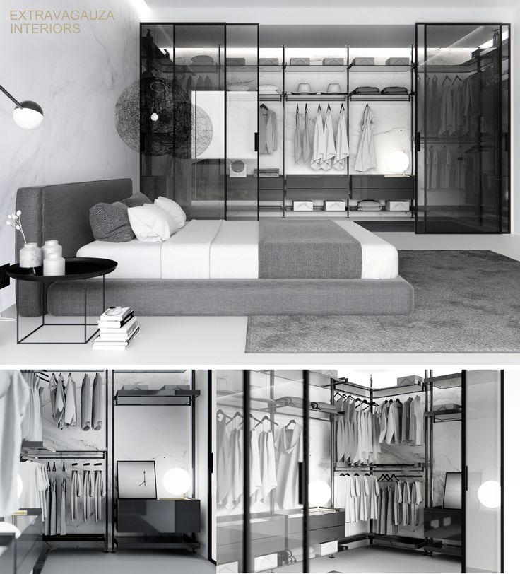 Extravagauza Interiors | Contemporary minimalist bedroom design www.extravagauza.co.uk