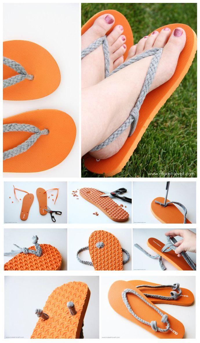 diy: flip-flop refashion