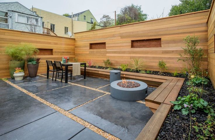17 best images about back yard fire pit ideas on for Fire pit on concrete slab