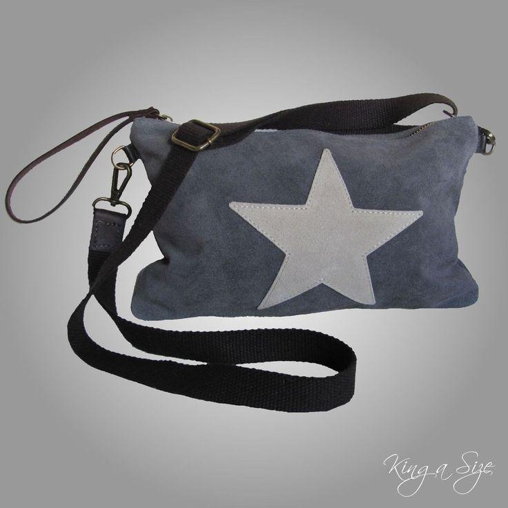 ITALY – BAG Tasche / Schultertasche / Tragetasche / Handtasche - Wildleder STERN