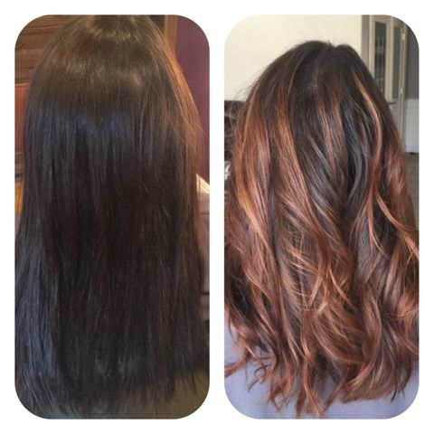 Hairtwist: Before and after doing some soft Balayage