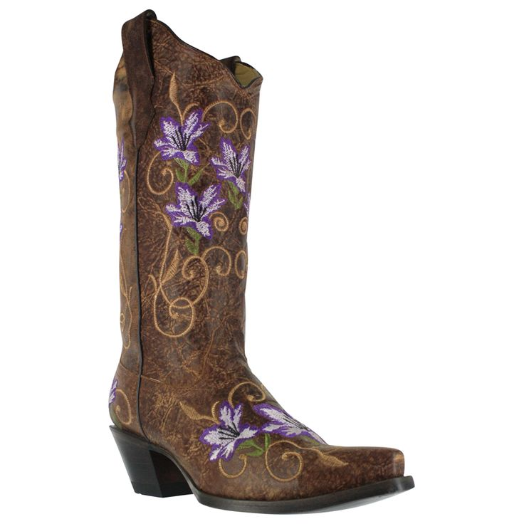 Corral Women's Floral Embroidered Western Boots