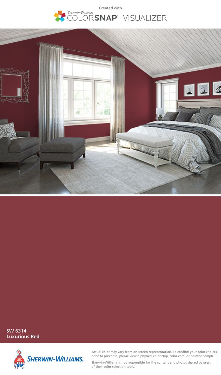I found this color with ColorSnap® Visualizer for iPhone by Sherwin-Williams: Luxurious Red (SW 6314).