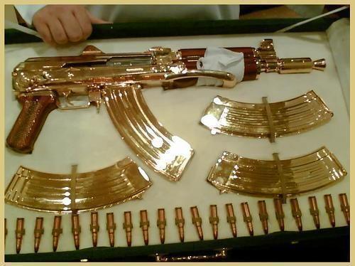 who needs a golden goose when you can have a golden gun