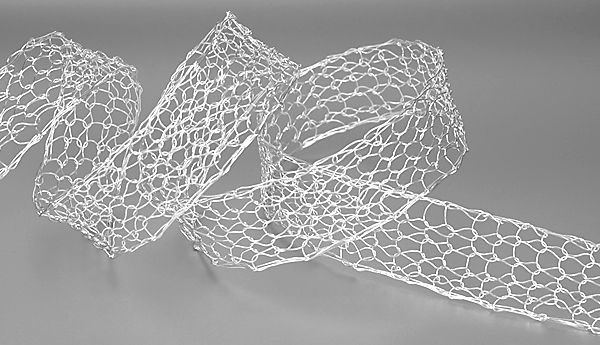 Metal Crochet ribbon 20mm Silver plated #ID1660