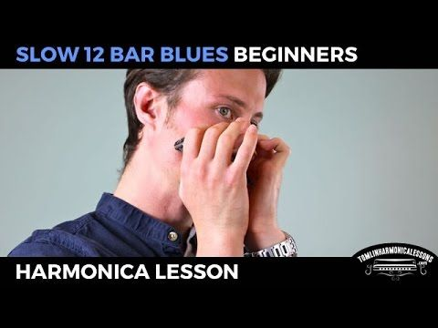 Slow 12 bar blues - Beginner Blues C Harmonica Lesson + free harp tab - YouTube