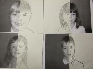 Fantastic way of exploring symmetry with self portraits