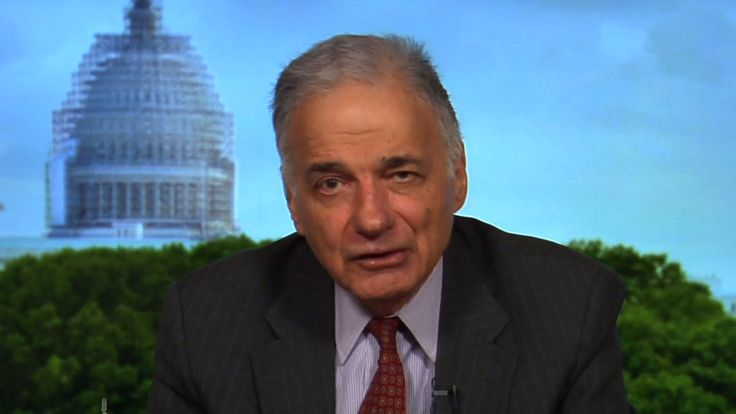 "Ralph Nader on Bernie Sanders, the TPP ""Corporate Coup d'Etat"" & Writing...  good interview.. good points.."