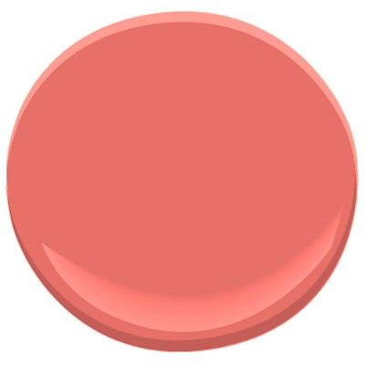 Benjamin Moore's Bird of Paradise 1305 - a favorite coral paint color