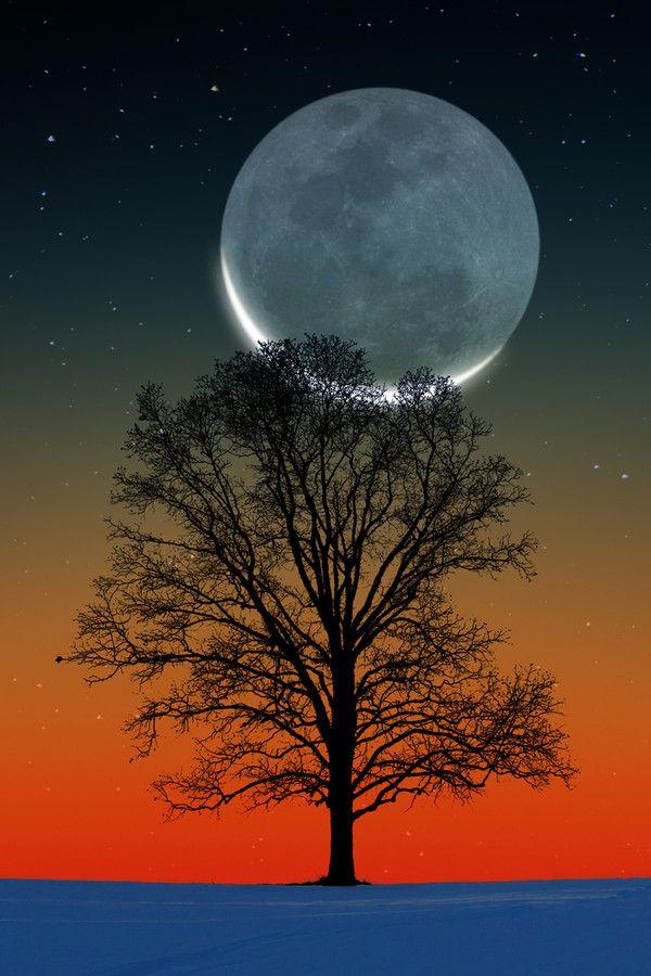 """""""Sunset Crescet Moon""""  *-*."""