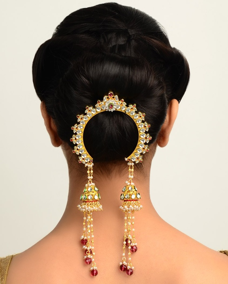 wedding hair buns indian style maharani jooda pin department peinetas 9014