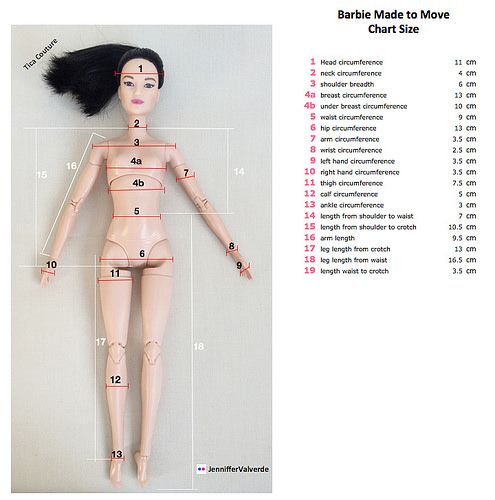 Barbie Made to Move Chart size | Jenniffer Valverde | Flickr