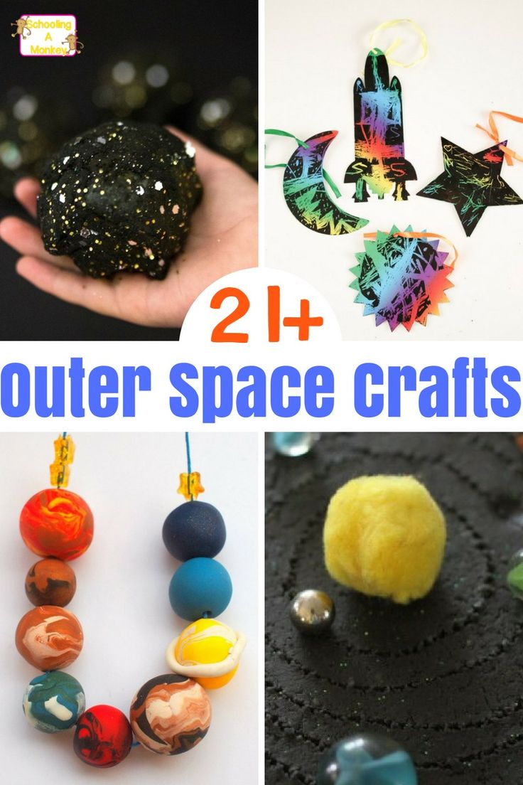 Kids will have a blast making these creative and fun outer space crafts. These crafts would be perfect for a space theme or summer kids crafts.