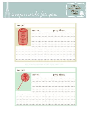 138 best Free Recipe Cards images on Pinterest Printable recipe - free recipe templates