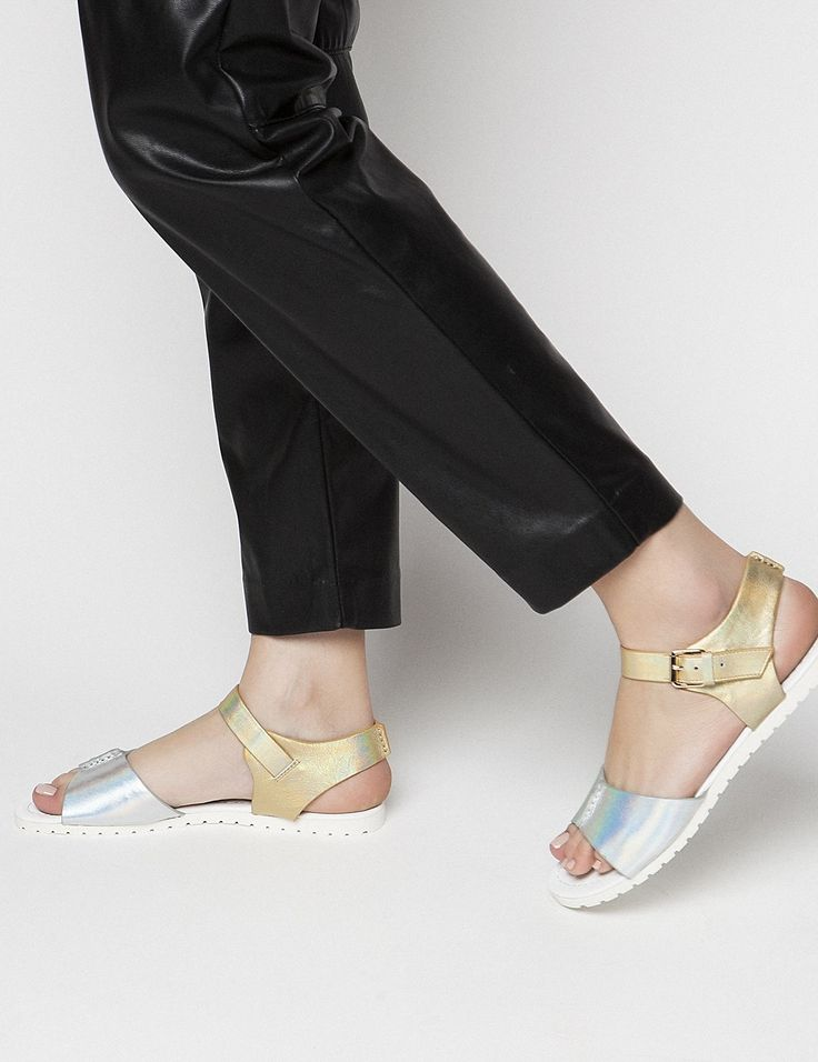 Sophie Silver Sandals S/S 2015 #Fred #keepfred #shoes #collection #leather #fashion #style #new #women #trends #silver #sandals #gold