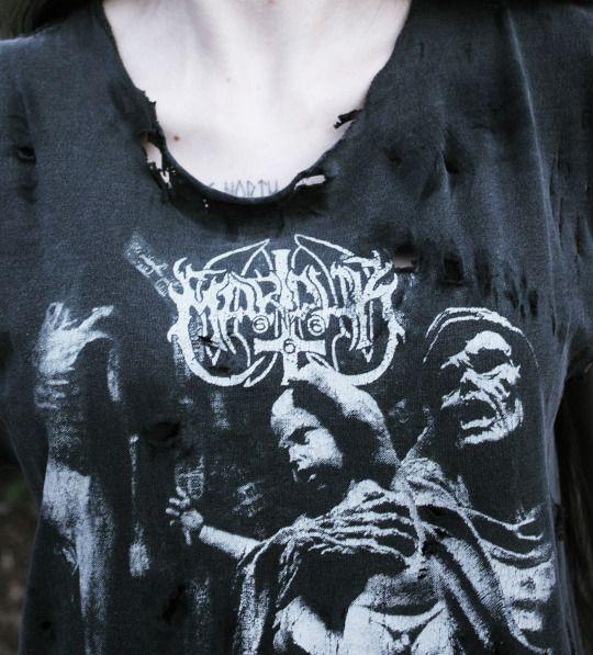 DIY Distressed Marduk Top