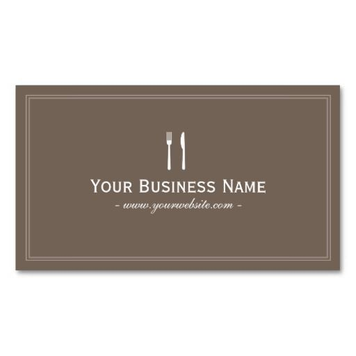 197 best chefcook business cards images on pinterest business chef catering simple framed plain brown business card reheart Image collections