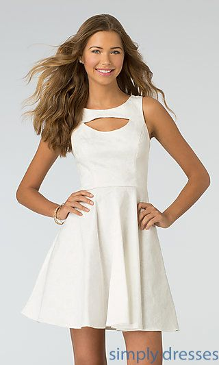 Shop short XOXO graduation dresses and rehearsal-dinner dresses at Simply Dresses. Short white dresses and homecoming dresses for under $100.
