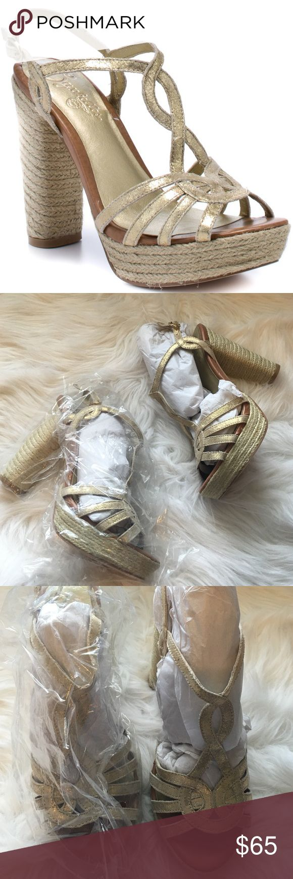 Seychelles Gold Metallic Espadrille Heels So chic and perfect for summertime! Brand new with packaging as shown. Size 9. No trades!! 06171680gwf Seychelles Shoes Heels