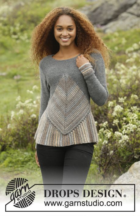 Tauriel by DROPS Design. Awesome jumper - and perfect if you love a challenge! Free #knitting pattern