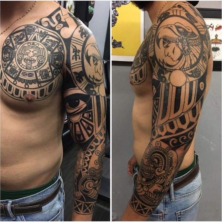 Aztec Tattoos Designs Ideas And Meaning: 11 Best Weed Sleeve Tattoos Images On Pinterest