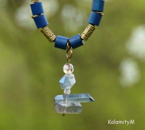 CoalsackNebula-náhrdelník aqua-aura náhrdelník achát dárek křišťál aqua aura