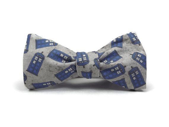 Doctor who bowtie Tardis bowtie police box bowtie by TheWoolFish, $28.00