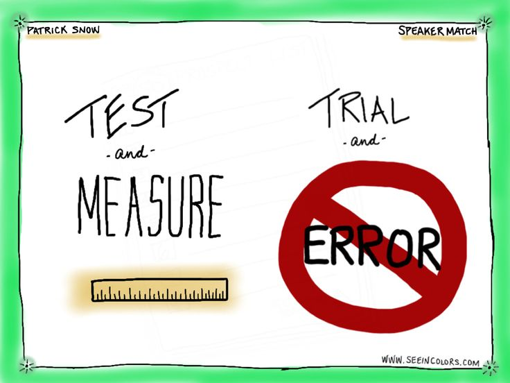 """""""Test and Measure, Trial and Error."""" -  Patrick Snow on SpeakerMatch 10/16/12.  Created by Lisa Nelson of seeincolors.com"""