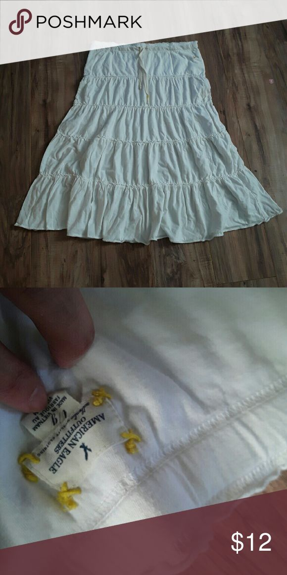 American Eagle Outfitters long skirt White american eagle outfitters tiered skirt American Eagle Outfitters Skirts