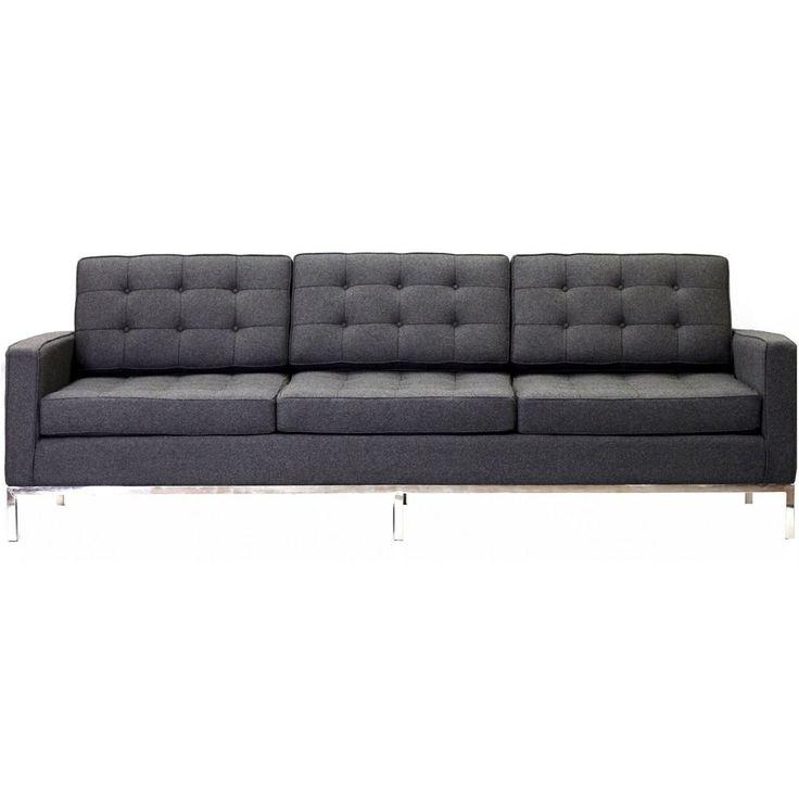 Lyte Wool Sofa Dark Gray