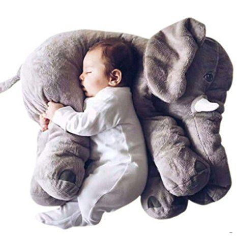 CRAVOG Baby-weiches Plüsch-Elefant Schlafkissen Kids Lendenkissen Spielzeug: Amazon.de: Baby
