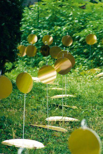 Du carton pour un décor en or / gold, cardboard, decoration set, wedding, party