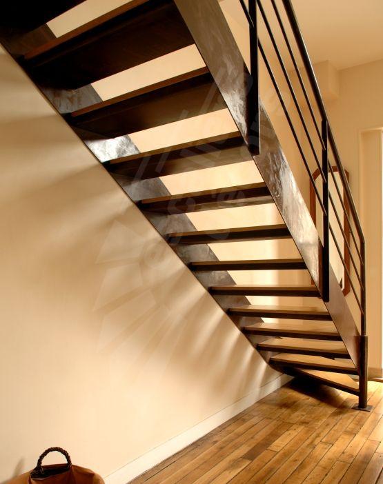 301 best un escalier en acier et bois images on pinterest 40 rocks steel stairs and stairways - Escalier acier bois ...