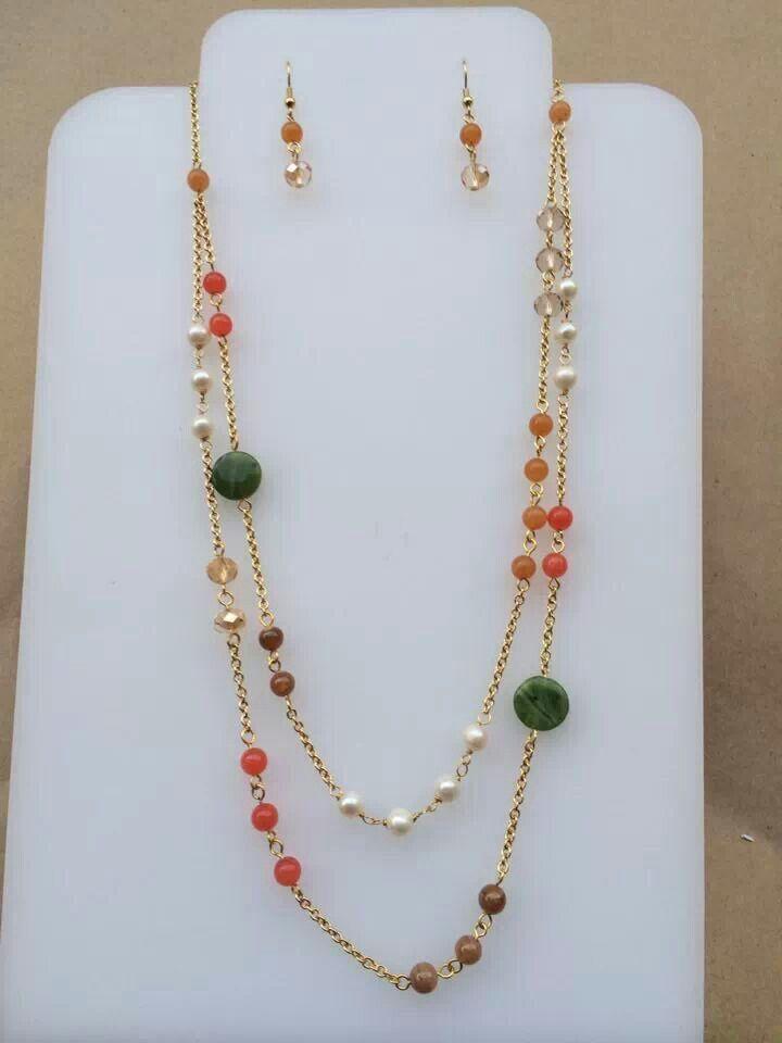7c42ec595b39 Collar cristales perlas y piedra. Image result for piedras semipreciosas  bijouteri