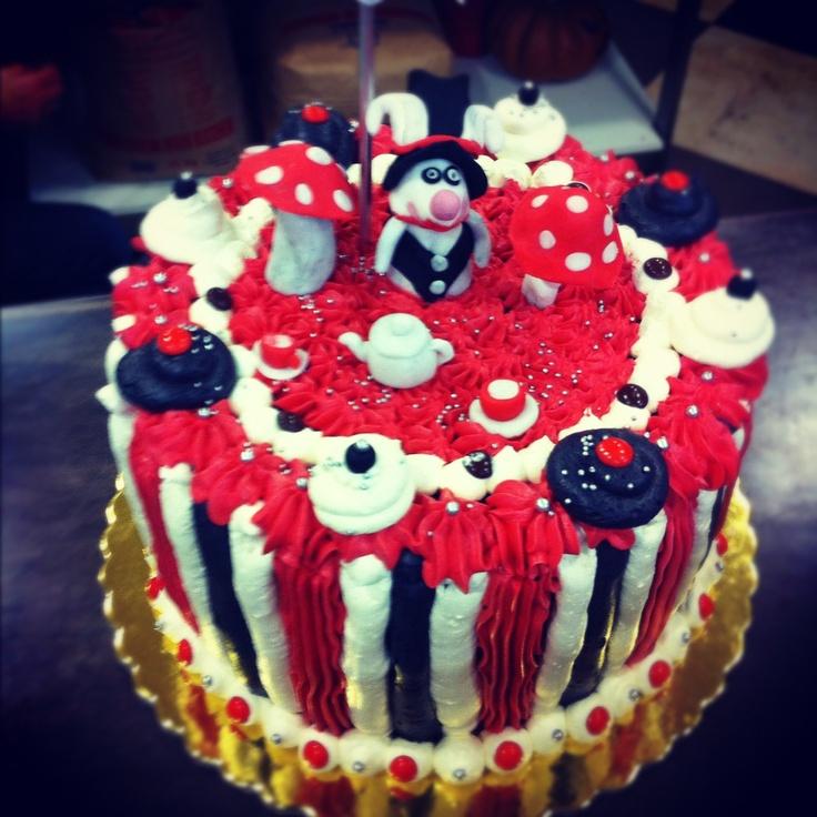 Wonderland Cake. Raspberry & Cream!