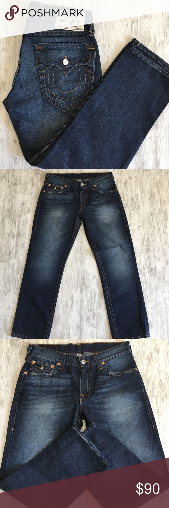 True Religions men's slim fit dark denim size 33 Brand new! Never worn! Size 33. True Religion Jeans Slim