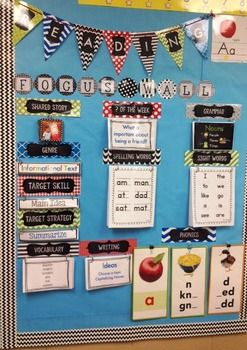 HUGE SET FOR JOURNEYS 1ST GRADE READING FOCUS WALL!! Pennant Banner, Labels & Flip Charts!!Matches all of my Bright Colors and Pretty Patterns items in my TpT Store!! http://www.teacherspayteachers.com/Store/Teaching-Kids-1st128 Pages for a very useful reading bulletin board!