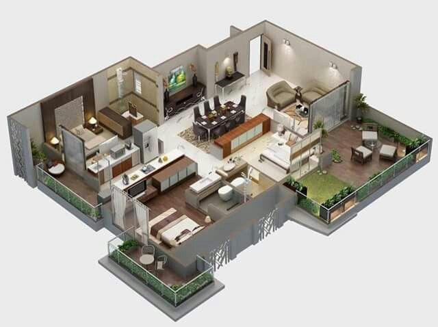 Apartment Design 3d 29 best house: 3d plans images on pinterest | architecture, models