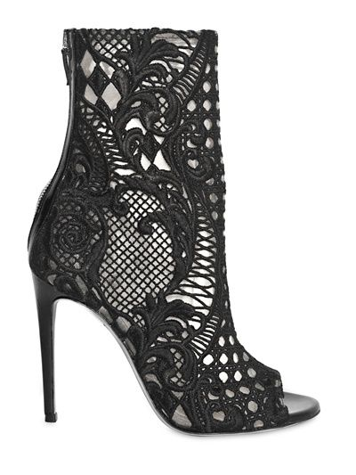 Fabulous lace @Balmain shoes avail. at @LuisaViaRoma