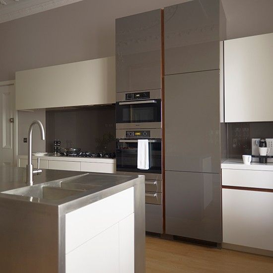 Streamlined contemporary kitchen with sleek glossy units