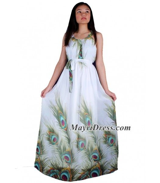 Peacock Maxi Dress Women Plus Sizes Clothing Long Floral Maternity Dress Casual Beach Party Wedding Guest Blue Chiffon Summer Sundress
